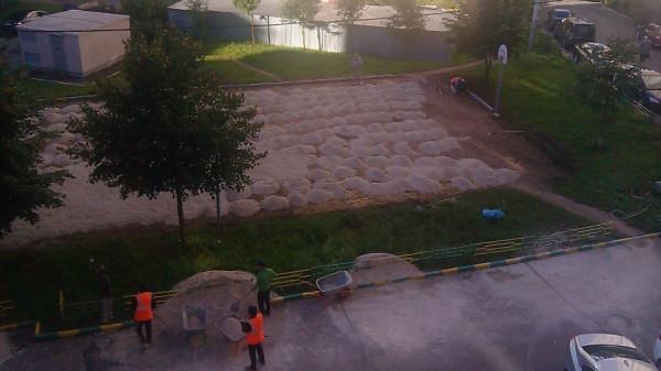 06, строительство спортплощадки ул Талалихина.1