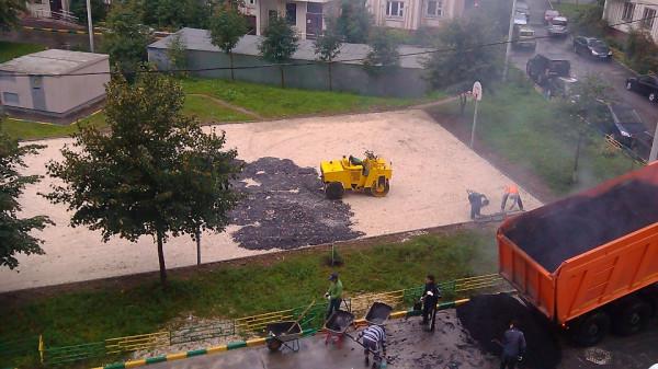 07, строительство спортплощадки ул Талалихина.1