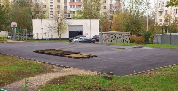 08, строительство спортплощадки ул Талалихина.1