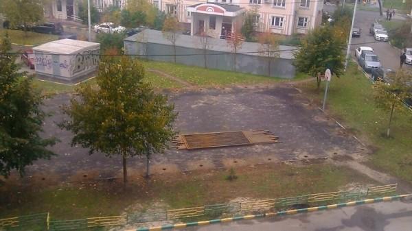 09, строительство спортплощадки ул Талалихина.1