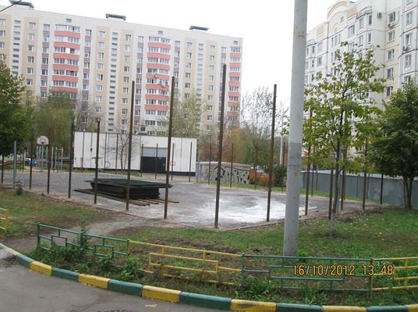 11, строительство спортплощадки ул Талалихина.1