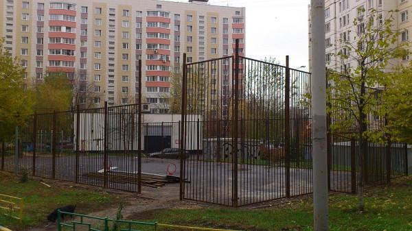 12, строительство спортплощадки ул Талалихина.1