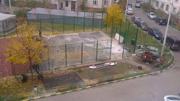 14, строительство спортплощадки ул Талалихина.1