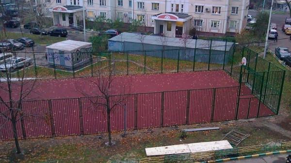 15, строительство спортплощадки ул Талалихина.1