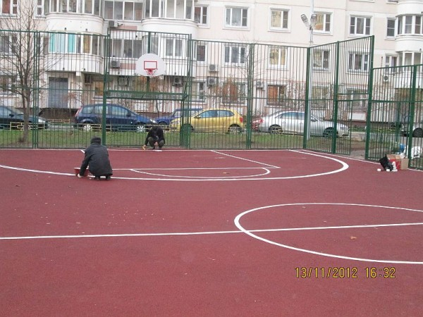 16, строительство спортплощадки ул Талалихина.1