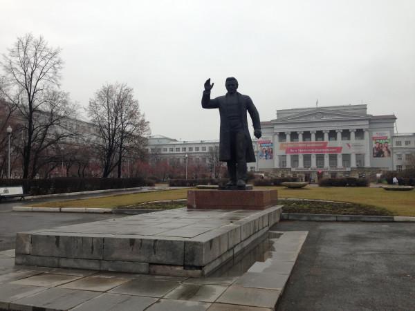 Вид на УрФУ от памятника С.М.Кирову