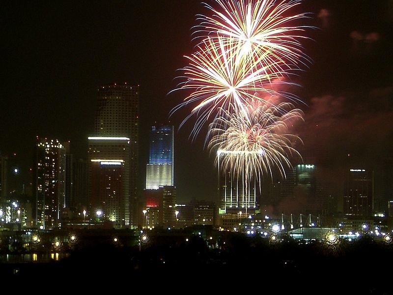 motviational fireworks scene
