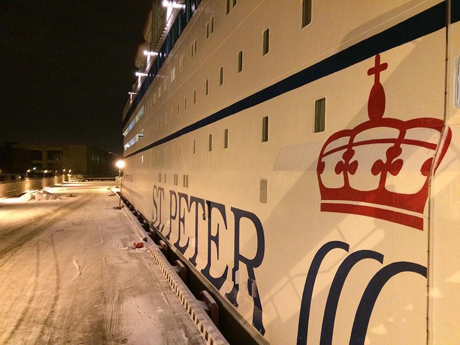 Принцесса Мария в порту Петербурга, январь 2016 года