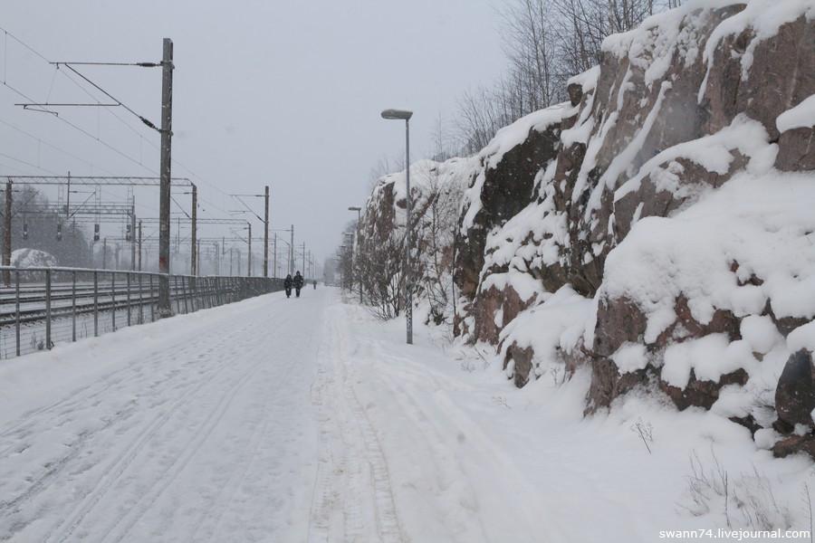 Снегопад в Хельсинки, январь 2016 года
