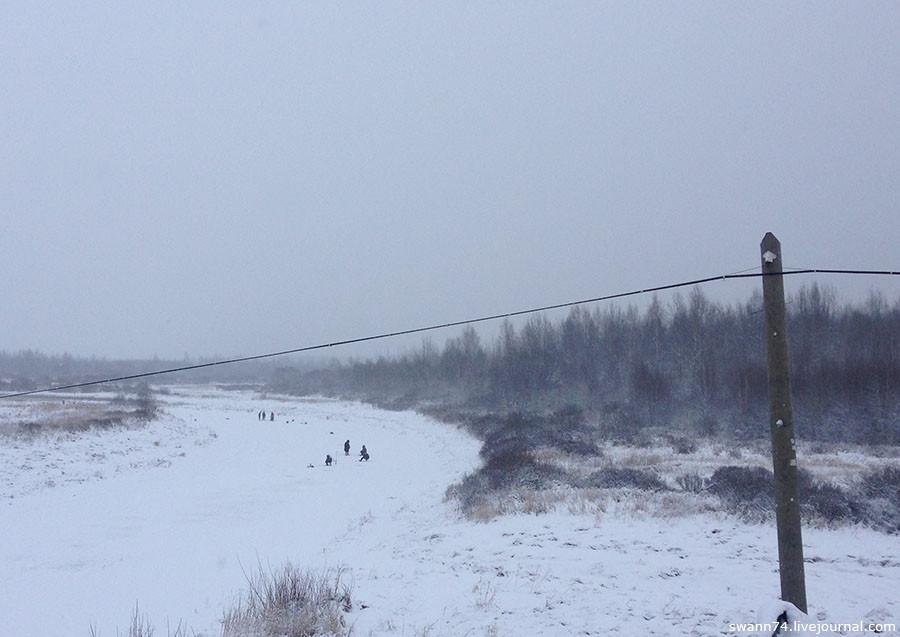 Река Большая Ниша, Новгородская область, январь 2016 года