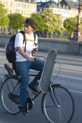 Копенгаген, велосипедисты.