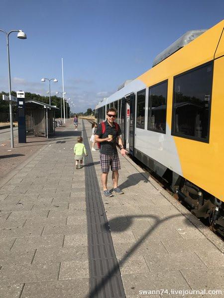 Станция Гиллелейе, Дания, июль 2018 года