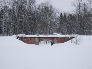 Мост в Баболовском парке. Январь.