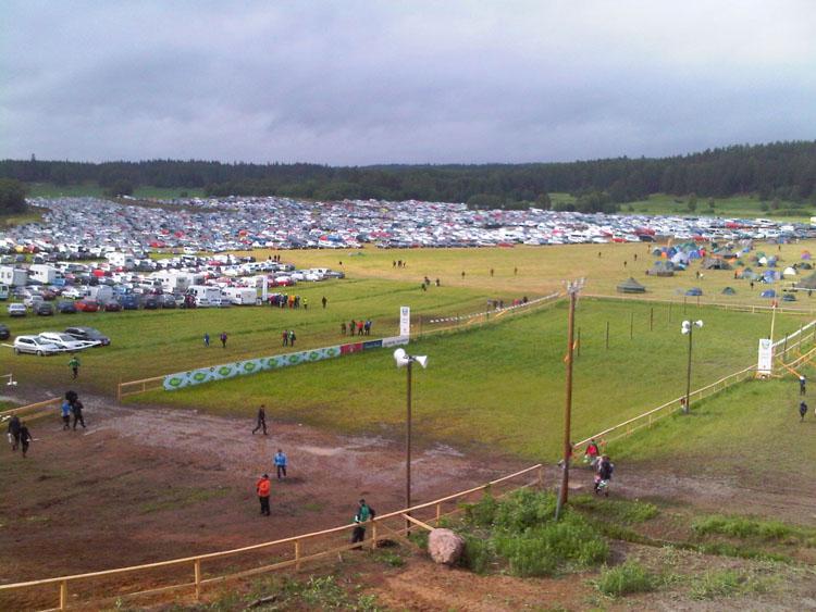 Парковка на Salpa-Jukola 2011