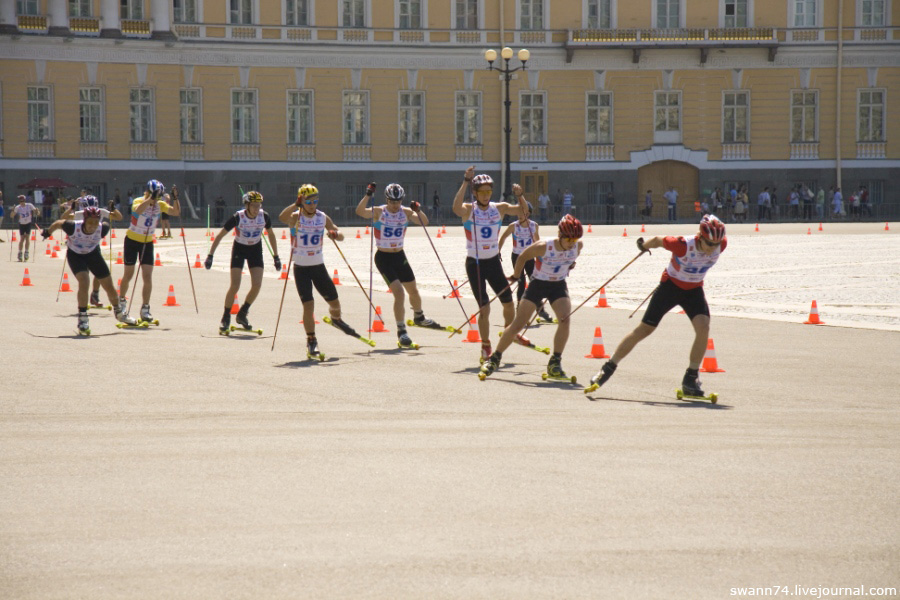 Лыжный спринт на Дворцовой