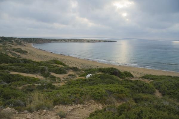 Пляж Лара, полуостров Акамас, Кипр.