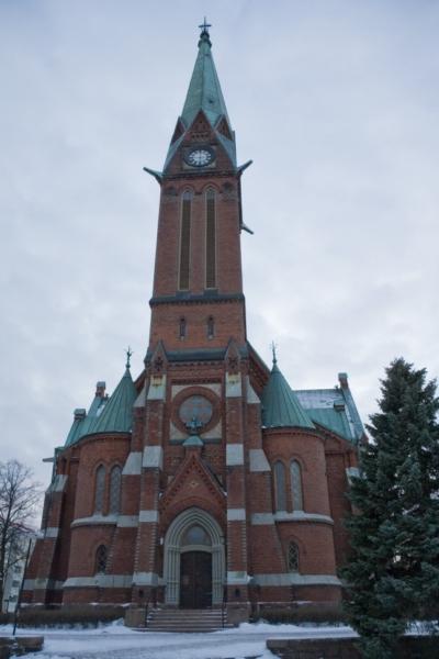 Город Котка, Финляндия, январь 2012.