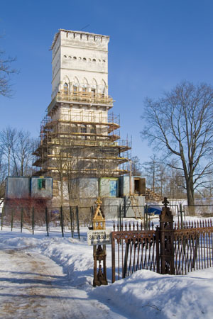 Белая башня, Пушкин, март 2012.