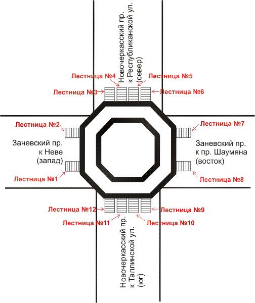 Станция метро новочеркасская схема станции и выходов
