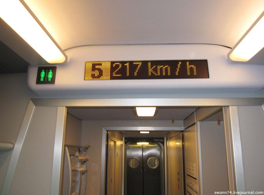 В скоростном поезде Аллегро