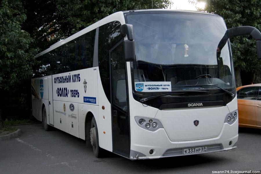 Автобус команды Волга Тверь