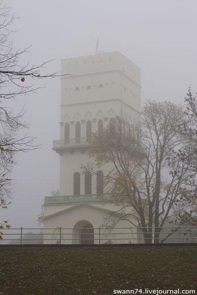 Александровский парк, Белая башня, туман, октябрь 2012 год.