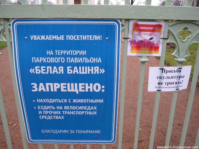 У Белой Башни в Пушкине, ноябрь 2012 год.
