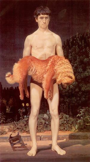 Дмитрий Жилинский. С убитой собакой.