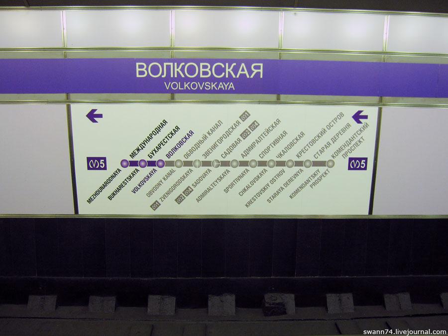 Станция метро Волковская.