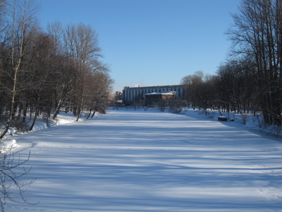 Река Таракановка, Екатерингофский парк, февраль.