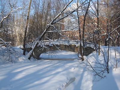 Мостик в Екатерингофском парке, февраль.
