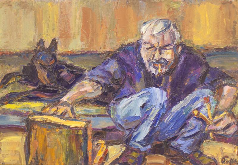 Борис Борщ. Портрет художника В.Яшке, 2004