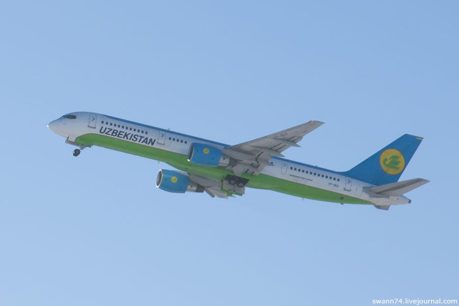 Узбекские авиалинии, Боинг 757, аэропорт Пулково