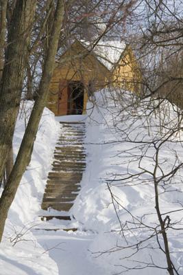Часовня в Варлаамо-Хутынском монастыре.
