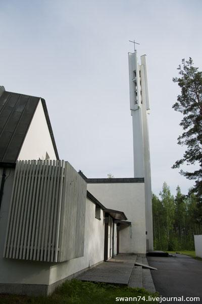 Церковь трех крестов Алвара Аалто в Иматре