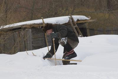 Ретро-лыжник.