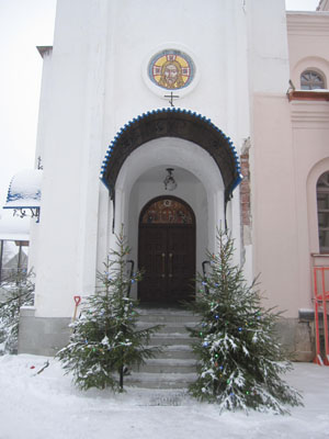 Константино-Еленинский монастырь в поселке Ленинское в январе 2015
