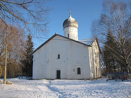 Церковь Благовещения на Мячине, январь 2015
