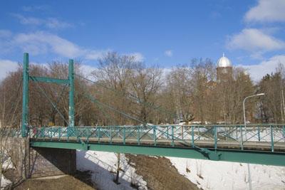 Лаппеенранта, подвесной мост через улицу.