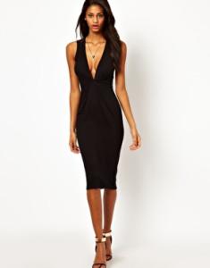 Чёрные платья в обтяжку