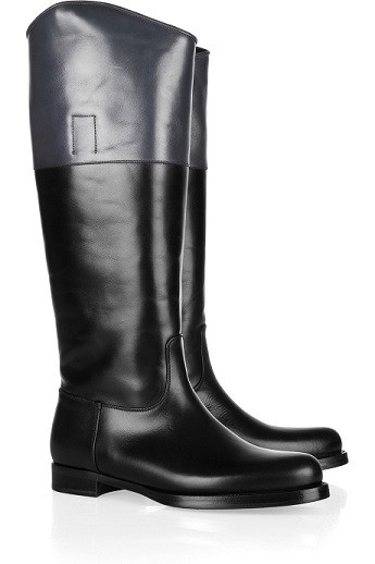 JIL-SANDER-Two-tone-leather-riding-boots