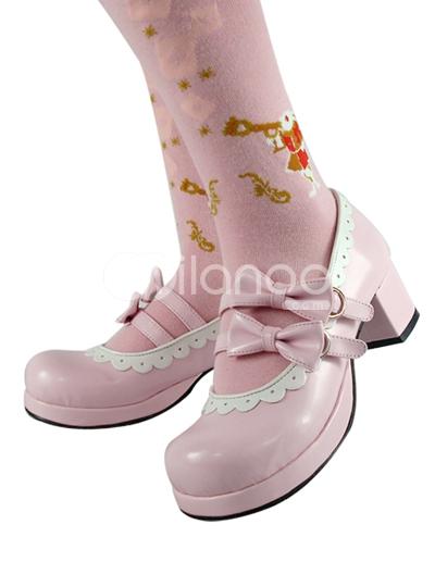 Attractive-Pink-High-Heel-Platform-PU-Womens-Lolita-Shoes-78175-3