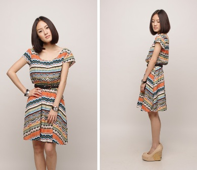 Lacepipe Tribal Print Flare Dress