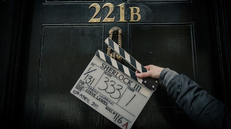 Sherlock-season-3-set-photo-Clapperboard