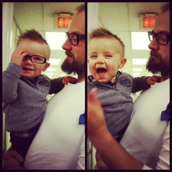 Gideon in Lollie's Glasses