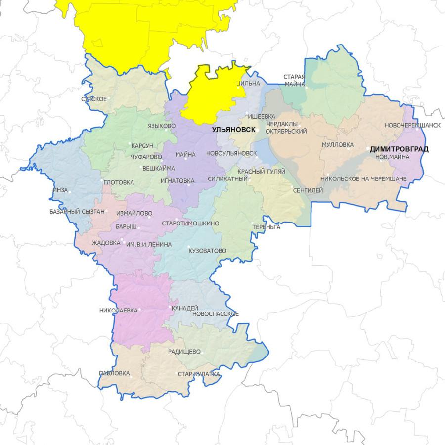 русский подробная карта ульяновской области нас наибольшая база