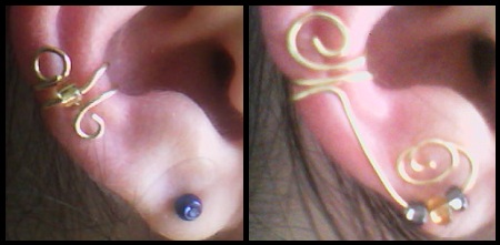 Homemade ear cuffs, what!