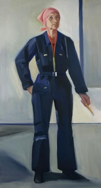 Lousia-Matthiasdottir-Self-Portrait-in-Overalls1985NationalAcademyMuseum.