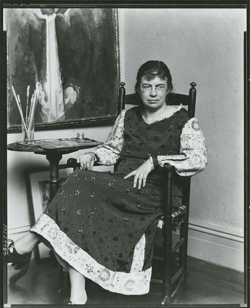 Marguerite_Zorach,_American_painter_and_printmaker,_1887-1968,_in_her_studio