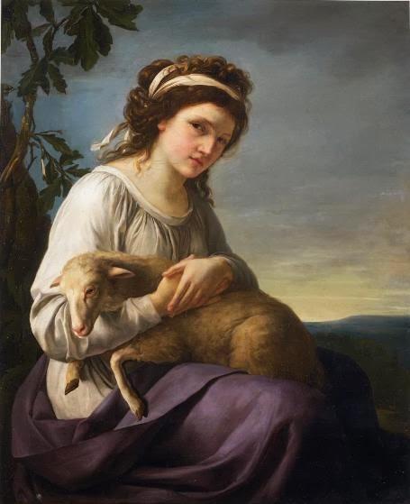 La Bergère (ou Autoportrait), Nanine Vallain